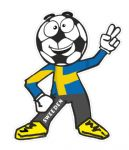 Novelty FOOTBALL HEAD MAN With Sweeden Sweedish Flag Motif For Football Soccer Team Supporter Vinyl Car Sticker 100x85mm